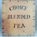 Lovely old tea box with interesting pattern of big stapleshellip