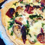 Just rustled this up! Quiche with porcini mushrooms sundries tomatoeshellip
