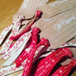 Business cards all ribboned up and ready to roll! creativehellip